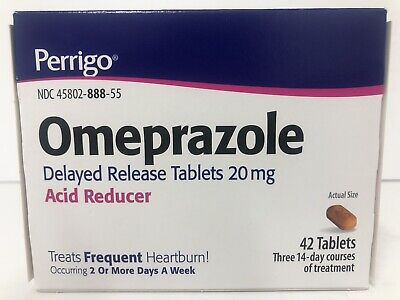 Perrigo OMEPRAZOLE Delayed release tablets ACID REDUCER 20mg 42 tab Exp. 9/19 A5 (Acid Reducer Delayed Release Tablets)