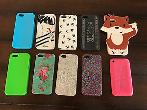 9 iphone 5/5s cases and 1 ipod 4th generation case
