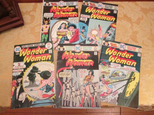 WONDER WOMAN Bronze Age 5 Comics Lot. (Numbers 218, 219, 220,  221, 222) 1975/76