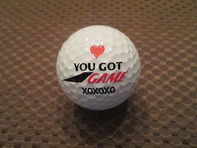 LOGO GOLF BALL-YOU GOT GAME XOXOXO....NOVELTY.....HEART..GOLF RELATED