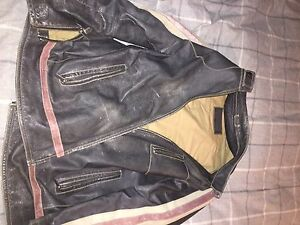 real leather jacket: oscar leapold