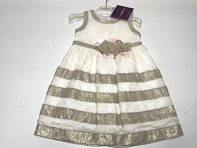 Val & Max New Girls Kids PINAFORE DRESS w/ LACE & FLOWER Sz: 4 RTL: $365 P906