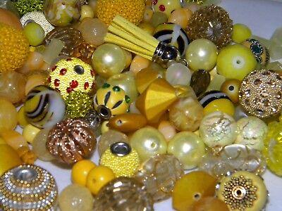 NEW 20/Pc Yellow/Golden Jesse James Beads LIMITED RANDOMLY p