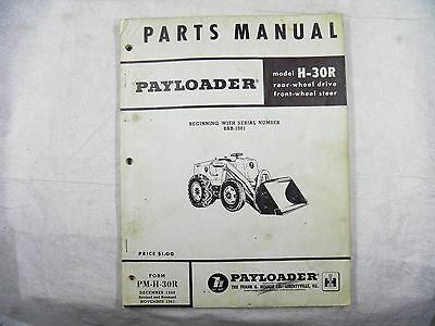 Ih Hough H30r Series B Payloader Parts Book 8ab1001-up
