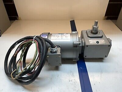 Leeson .33hp 13 Electric Motor Wgrove Gear Reducer Ratio 401 208-230460