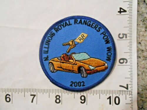 2002 N. Illinois Royal Rangers Pow Wow Patch  vintage iron on with free shipping