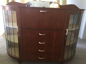 Antique display cabinet with key Wishart Brisbane South East Preview