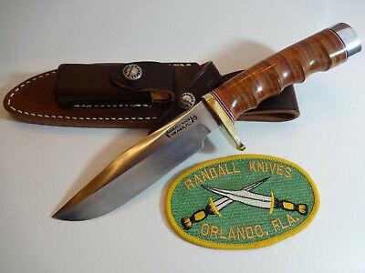"RANDALL KNIFE Model 5-5"" SS ""CAMP & TRAIL"" Leather FG Handle/Duralumin Butt Cap"