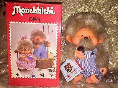Original Sekiguchi MONCHHICHI OPA Gran´pa Figur Monchichi *OVP* *Rarität* z235