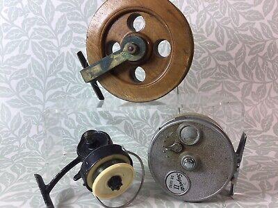 Vintage Fishing Reels inc. Grice & Young, K.P Morritt's Intrepid Junior & Wooden