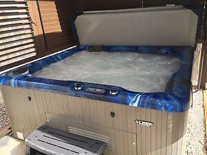 Hot tub and gazebo