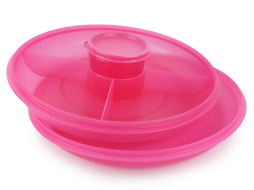Tupperware Small Serving Center Set in Pink - Brand New!