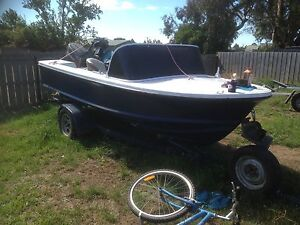 14ft fibreglass 50hp mariner Launceston Launceston Area Preview
