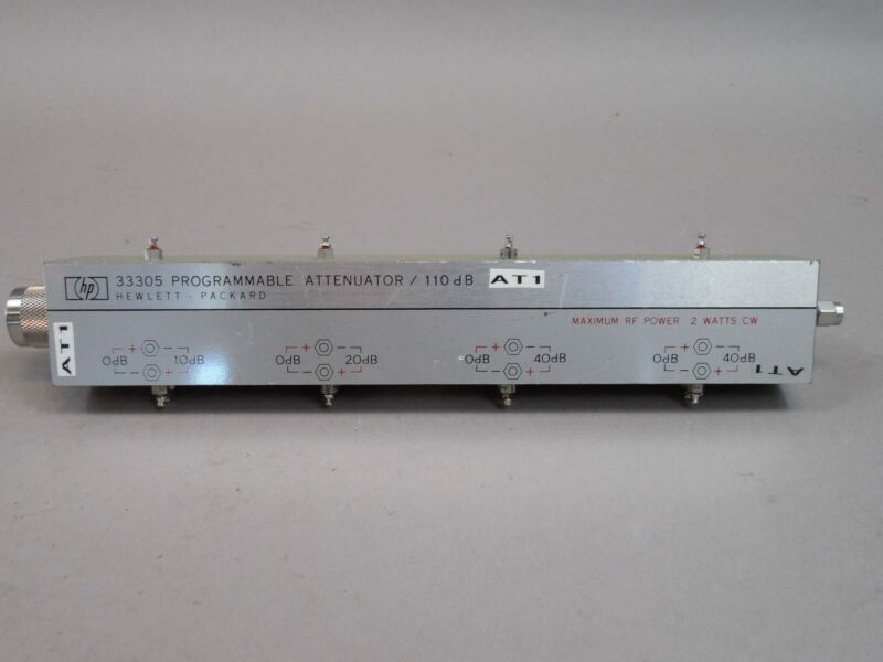 HP 33305 Programmable Attenuator 110dB