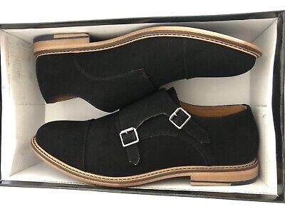 Madden Mens Graves Black Suede Oxford Dress Shoe Size 9.5 Black Suede Dress Shoe
