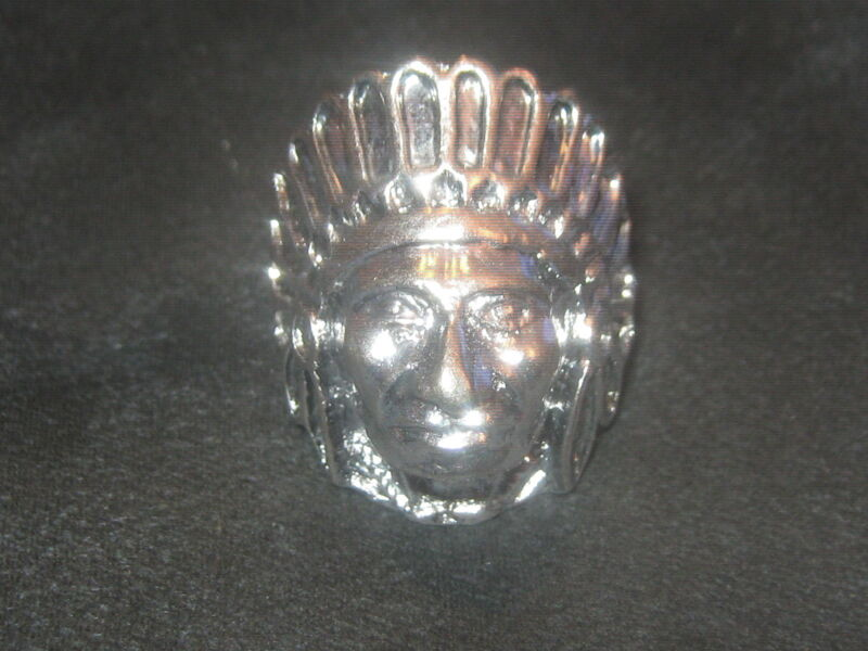 WHOLESALE LOT OF 4 AMERICAN SOUTHWEST INDIAN CHIEF RING SIZE 8 TRIBE FEATHERS