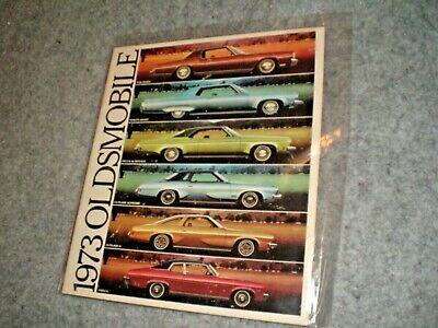 Vintage 1973 Sales Booklet for Oldsmobile, includes ALL models, MINT.
