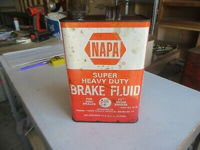 Vintage Empty 1 Gallon Napa Brake Fluid Oil Can Only 1 on eBay Lot 20-56