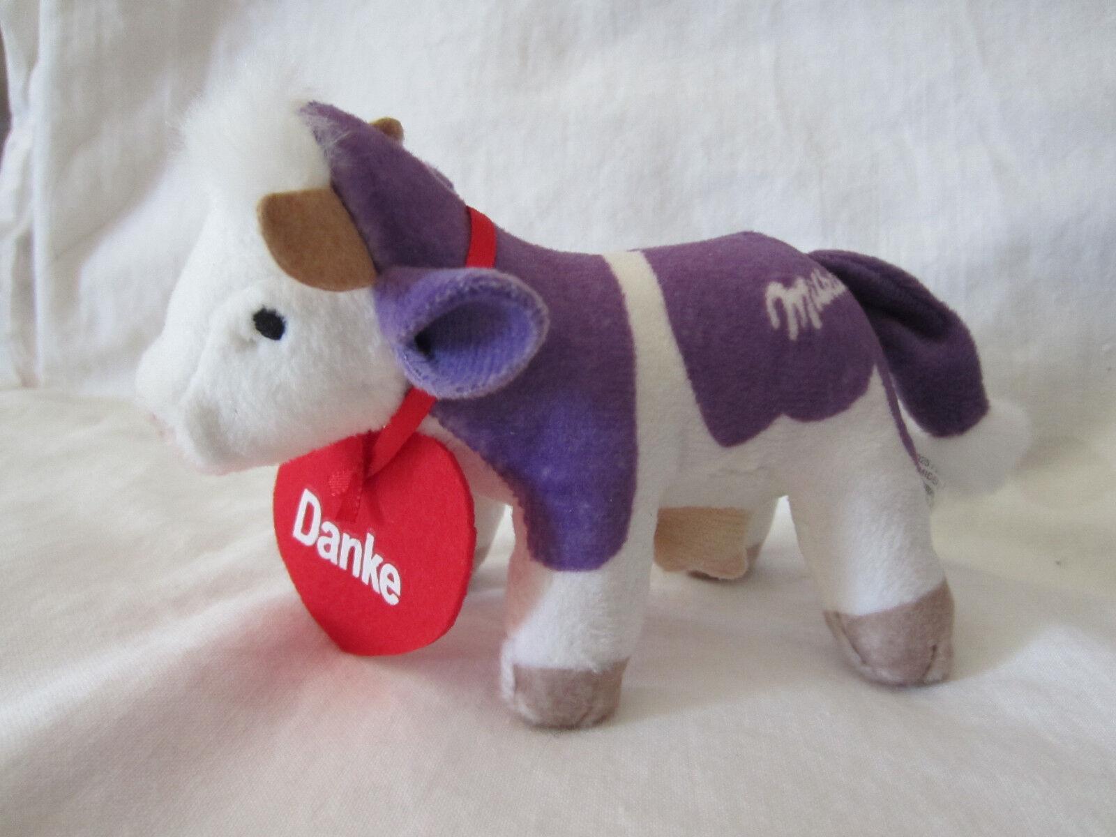 ♥ Milka Schokolade Kuh mit Herz Danke plüsch 13x8 cm ♥