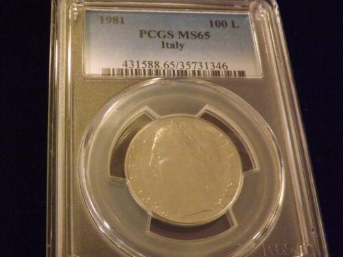 1981      100 L     ITALY       PCGS MS 65