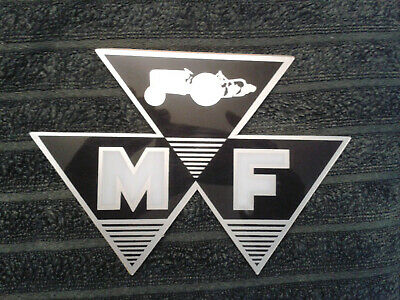 Tractor Massey Ferguson w// Badge Above Sticker Decal Multiple Sizes /& Colours