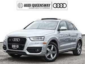 2015 Audi Q3 2.0T Progressiv|No Accidents|Leather|Parktronic