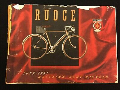 Vintage Bicycle - Rudge 1951 Catalogue - Raleigh Industries