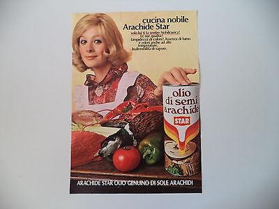 advertising Pubblicità 1972 OLIO DI SEMI DI ARACHIDE STAR