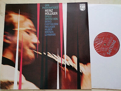 BERIO / CASTIGLIONI / HOLLIGER u.a. DER PHÄNOMENALE HEINZ HOLLIGER *PHILIPS LP*