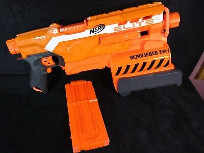 Hasbro Nerf N-Strike Elite Demolisher 2-In-1 with Clip - Tested & Working