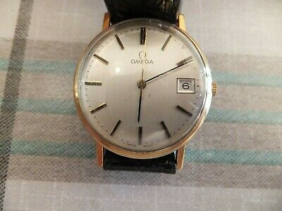 Fantastic Vintage 9 ct gold  Omega date watch / Box. 1978  wow