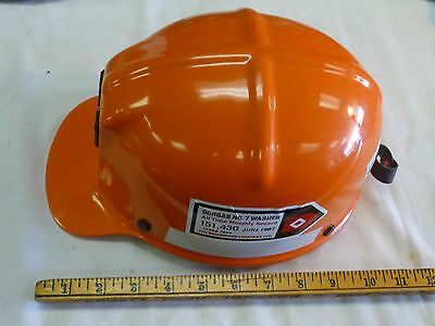 1984 Msa Comfo-cap Miners Hat Orange - Safety