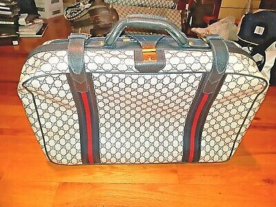 """AUTHENTIC VINTAGE Gucci Monogram Luggage Suitcase! 24 x 15 x 7"""" ! FREE SHIPPING!"""