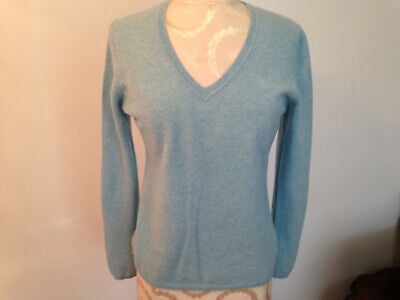 CASHMERE by CHARTER CLUB Blue 100% Cashmere 2 Ply Long Sleeve Sweater Size -