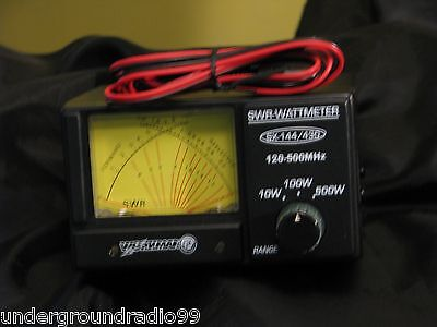 Ham Radio Dual NICE Cross-needle rf METER SWR + Power 2-meter VHF UHF 500 mhz