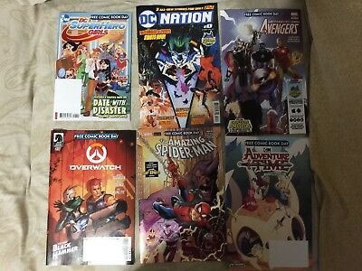 Fcbd 2018  Lot 19 Free Comic Book Day Spiderman Dc Avengers Marvel