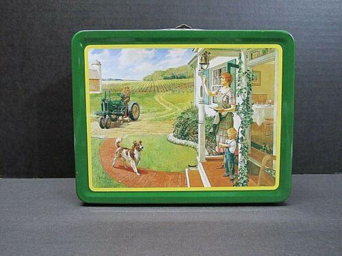 "VINTAGE John Deere Lunch Box ""Suppertime"""