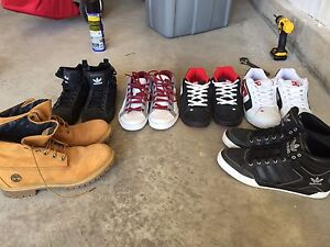 5 pairs of shoes and 1 pair of Timberland boots