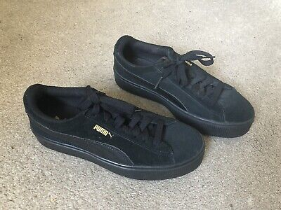 New Ladies Black Puma Vicky trainers - size 5.5
