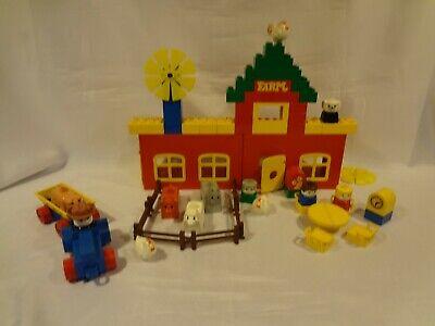 Vintage LEGO DUPLO Building Set #2650-1 - 1979 Farm - 60 pcs - imperfect