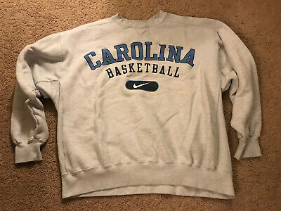 Nike Vintage North Carolina Tarheels Sweatshirt NCAA Adult XL Basketball Jordan (Carolina Tarheels Basketball)