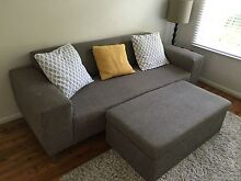 Stylish 3-Seater Grey Sofa and matching Ottoman North Bondi Eastern Suburbs Preview