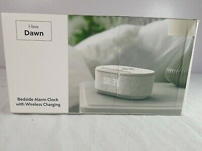 Bedside Radio Alarm Clock USB Charger Bluetooth Speaker QI Wireless LED Display