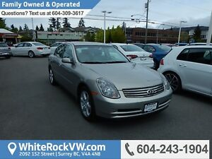 2003 Infiniti G35 Luxury Leather Upholstery, Heated Front Sea...
