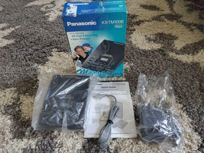 PANASONIC KX-TM100B DIGITAL ANSWERING MACHINE SYSTEM BLACK GREAT SHAPE!
