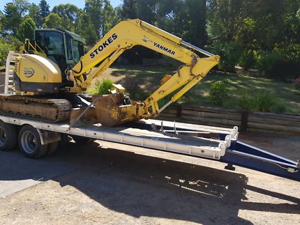 Excavator and Tag trailer