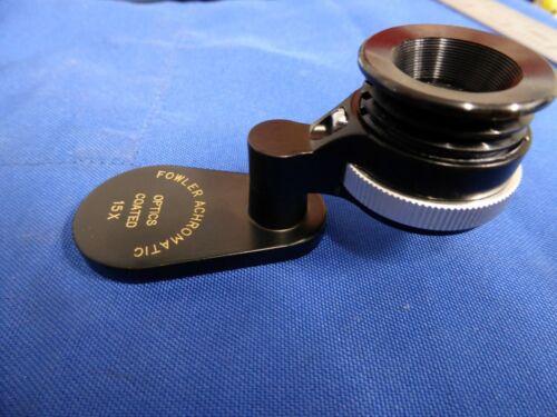 Fowler Achromatic Folding Portable 15X Magnifying Optical Loupe Peak Magnifier
