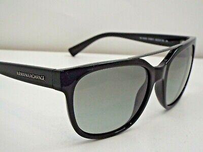 Authentic Armani Exchange AX 4043S 8158/11 Black Grey Gradient Sunglasses