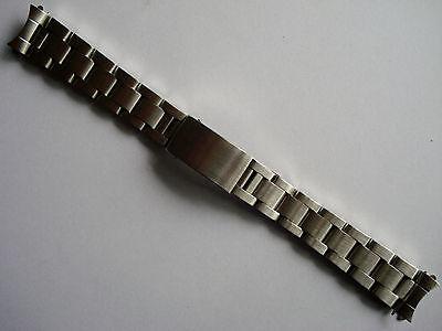 17MM BRUSHED SOLID STEEL OYSTER BAND BRACELET FOR ROLEX 31MM EXPLORER WATCH CASE