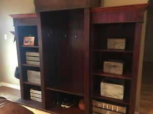 Solid Mahogany Armoire / Entertainment Unit